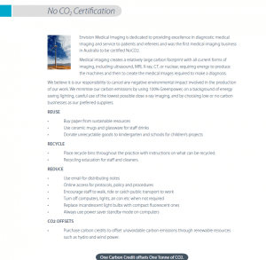 NoCo2-Certification-For-Envision-Medical-Imaging-Clinic