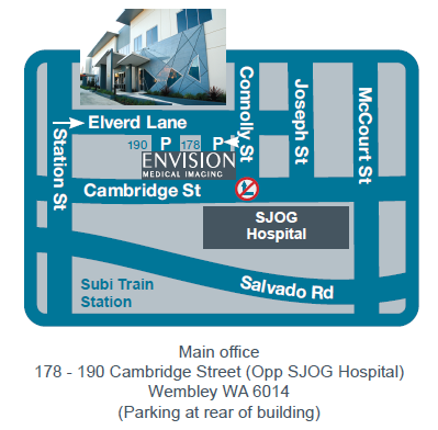 Map of Envision location at Wembley